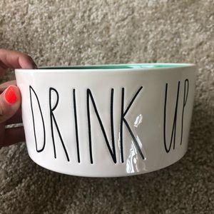 New Rae Dun Dog Bowl Drink Up Green